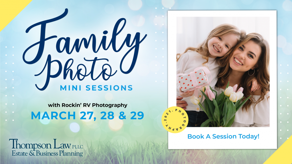 family photo session advertisement