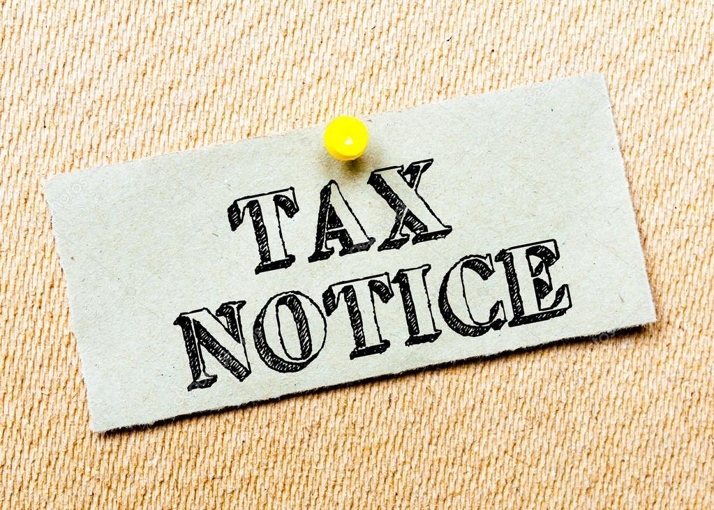 tax notice stock image